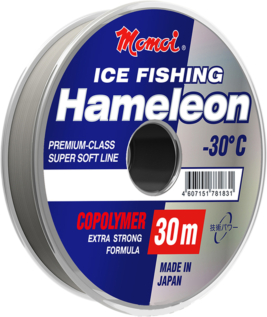 Леска зимняя Momoi Fishing Hameleon ICE Fishing, 30 м, 0,20 мм, 5 кг