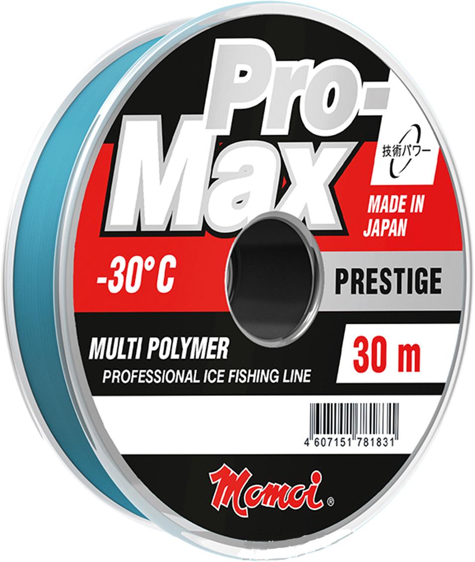Леска зимняя Momoi Fishing Pro-Max Prestige, 30 м, 0,085 мм, 0,9 кг, 30 м
