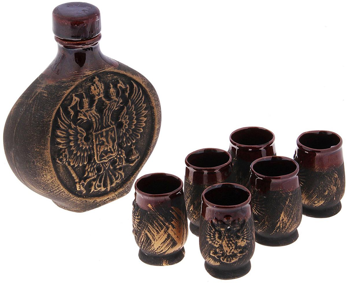 Набор винный Керамика ручной работы Россия, 7 предметов. 733075 набор винный керамика ручной работы ружье 7 предметов
