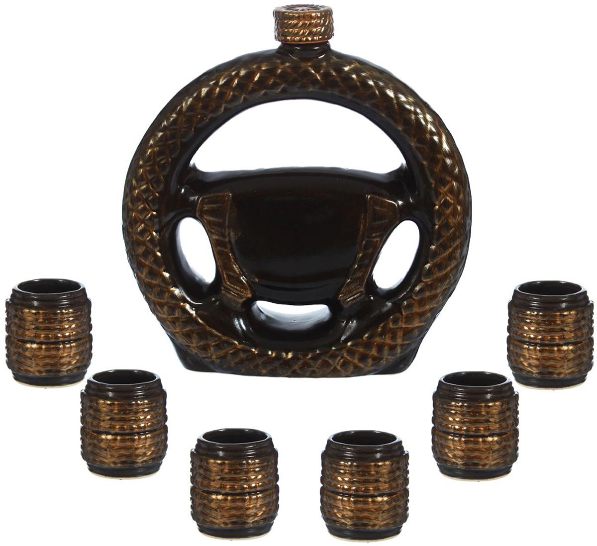 Набор винный Керамика Руль, ручной работы, 7 предметов. 1016348 набор винный керамика ручной работы ружье 7 предметов