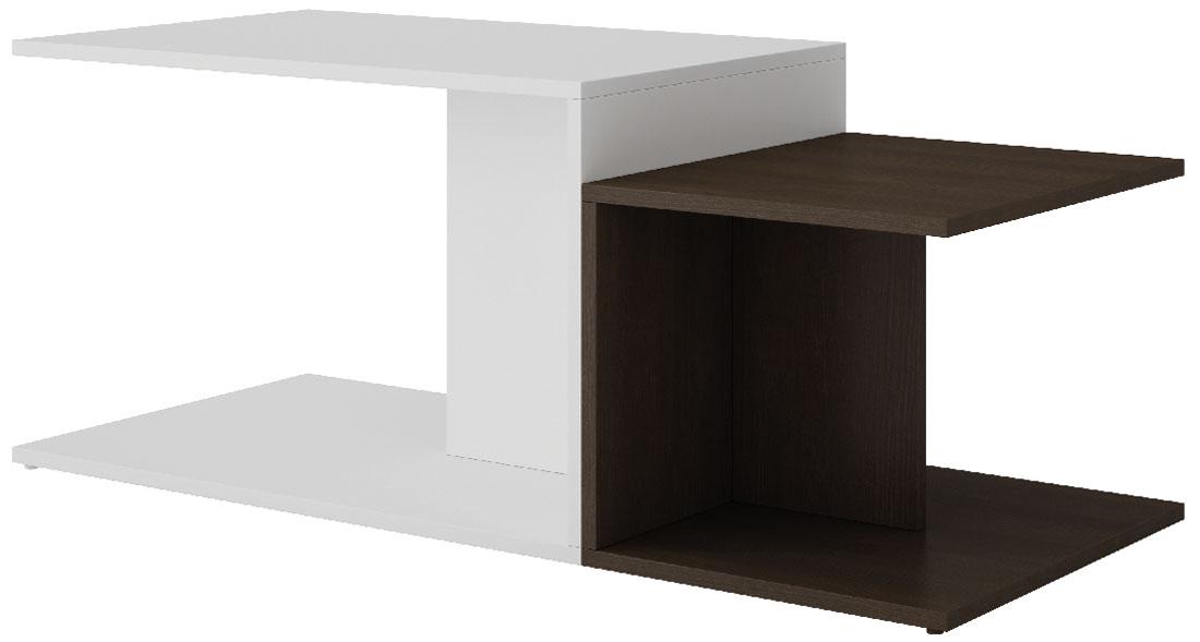 Стол журнальный Manhattan Comfort Cuba 2.0, цвет: белый, темно-коричневый, 102,5 х 44,5 х 41,5 смBM 52-66Стильный журнальный стол Manhattan Comfort Cuba 2.0 - это функциональный и практичный элемент мебели, который станет великолепным дополнением вашего домашнего интерьера. Столик отлично впишется в интерьер гостиной или спальни. Он позволит не только рационального организовать пространство, но и станет прекрасным местом для хранения книг, цветов или ваз с фруктами.