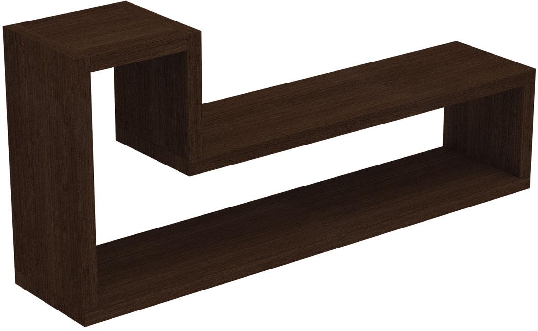 Полка Manhattan Comfort Barbas, цвет: темно-коричневый декоративная полка creative home