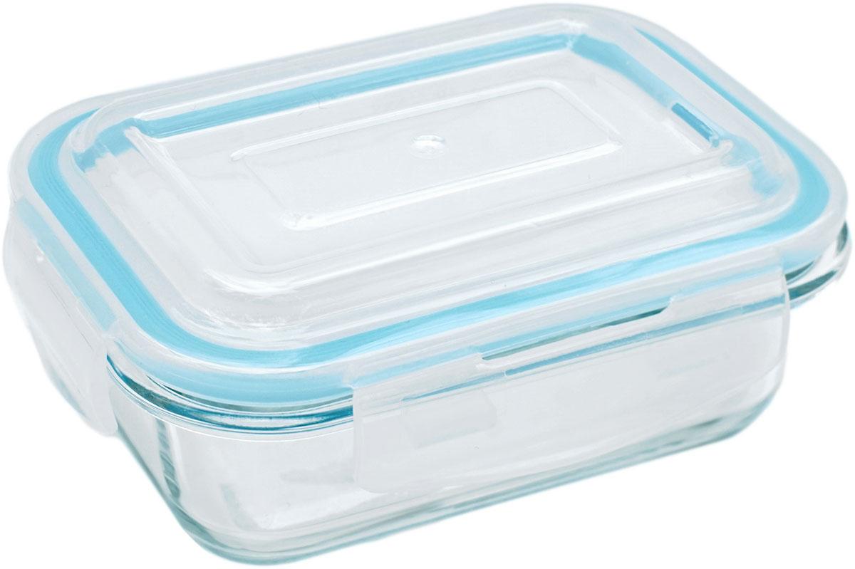 Контейнер пищевой Eley Elegant Сollection, прямоугольный, цвет: лазурный, 370 мл контейнер пищевой eley elegant сollection круглый цвет лазурный 400 мл
