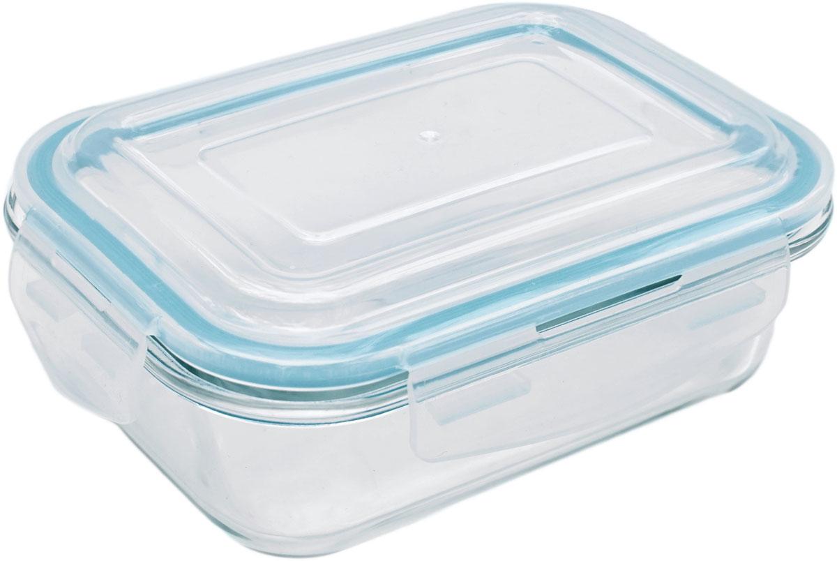 Контейнер пищевой Eley Elegant Сollection, прямоугольный, цвет: лазурный, 650 мл. ELEC6001L контейнер пищевой eley elegant сollection круглый цвет лазурный 650 мл elec6008l