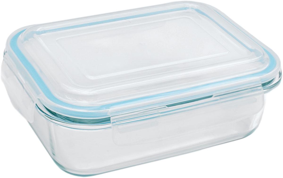 Контейнер пищевой Eley Elegant Сollection, прямоугольный, цвет: лазурный, 1 л контейнер пищевой eley elegant сollection круглый цвет лазурный 650 мл elec6008l