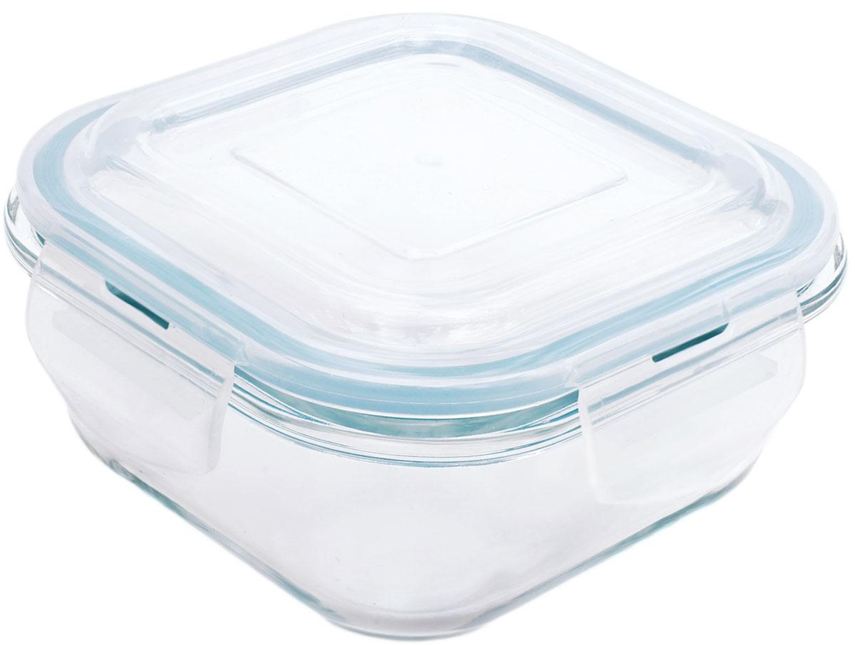 Контейнер пищевой Eley Elegant Сollection, квадратный, цвет: лазурный, 520 мл контейнер пищевой eley elegant сollection круглый цвет лазурный 400 мл