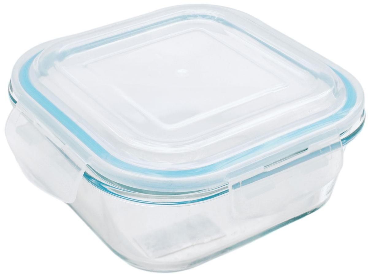 Контейнер пищевой Eley Elegant Сollection, квадратный, цвет: лазурный, 800 мл контейнер пищевой eley elegant сollection круглый цвет лазурный 400 мл