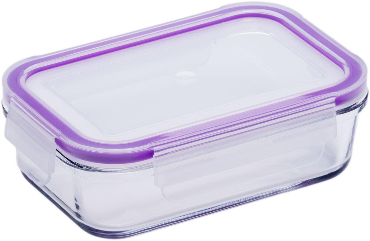 Контейнер пищевой Eley, прямоугольный, цвет: баклажан , 400 мл контейнер пищевой eley прямоугольный цвет баклажан 1 6 л