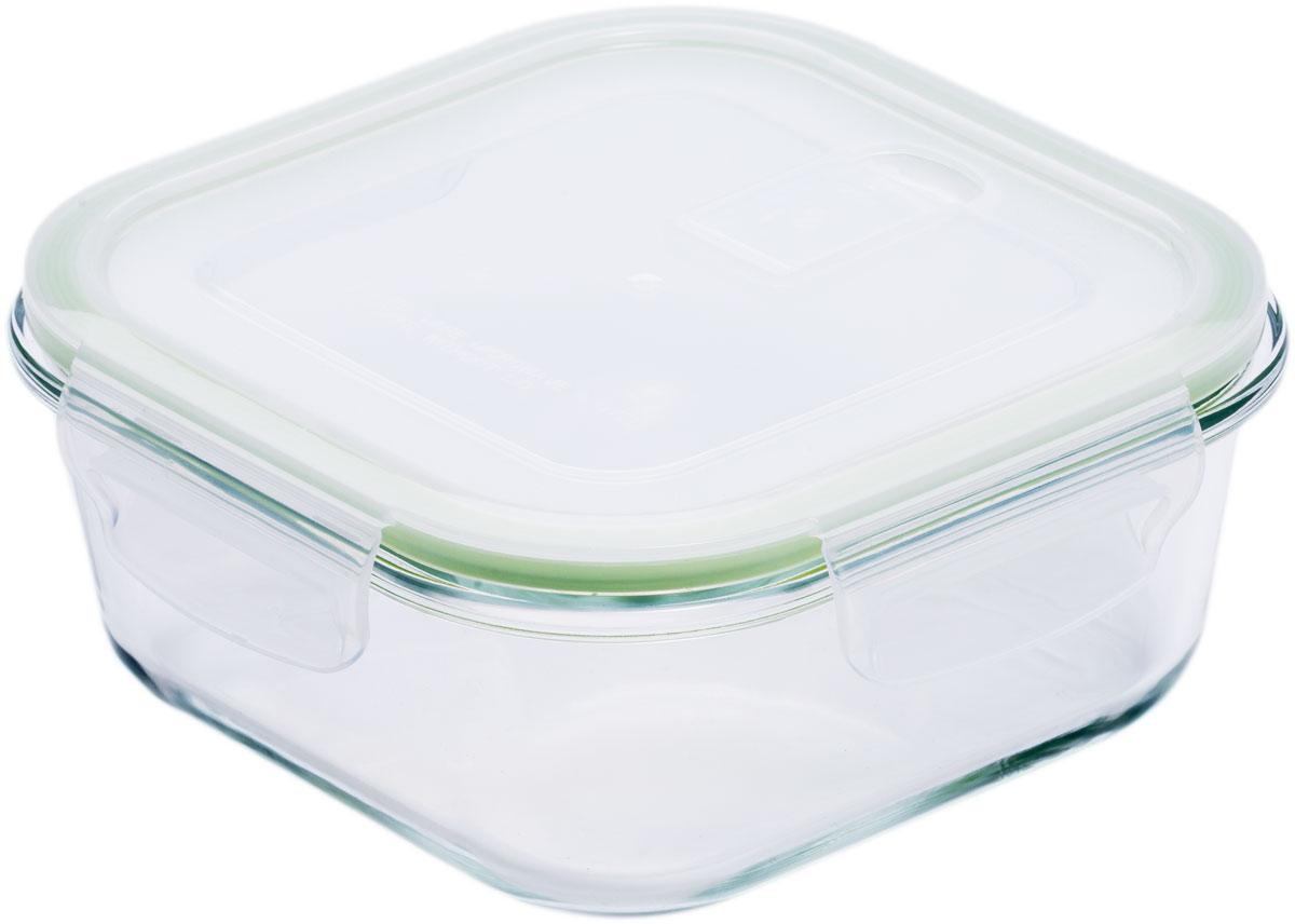 Контейнер пищевой Eley, квадратный, цвет: зеленый, 530 мл цена