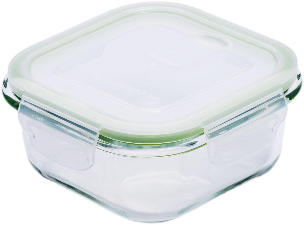 Контейнер пищевой Eley, квадратный, цвет: зеленый, 800 мл контейнер пищевой elff decor цвет зеленый 800 мл