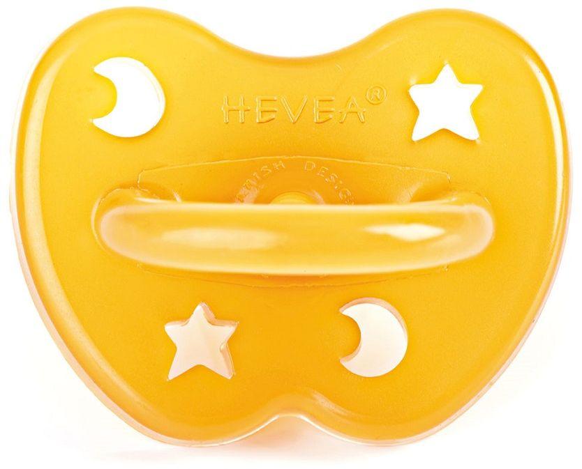 Hevea Пустышка ортодонтическая Star&Moon от 0 до 3 месяцев
