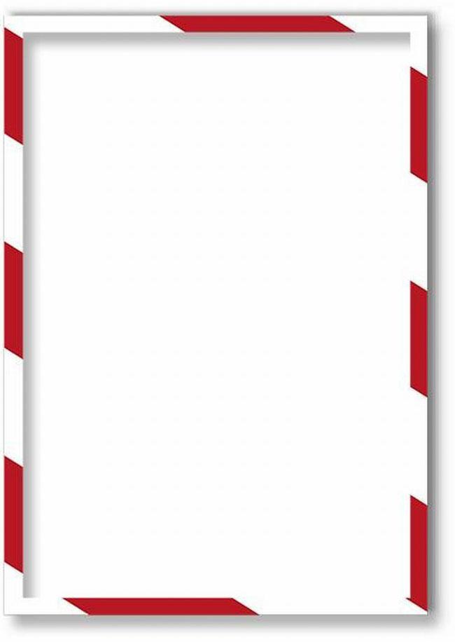 Магнитная защитная слайд-рамка для предупреждающих знаков цвет бело-зеленая 5 шт