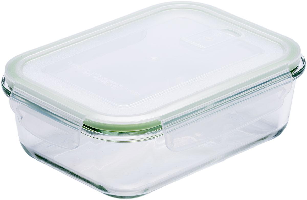 Контейнер пищевой Eley, прямоугольный, цвет: зеленый, 1,04 л контейнер пищевой eley прямоугольный цвет баклажан 1 6 л