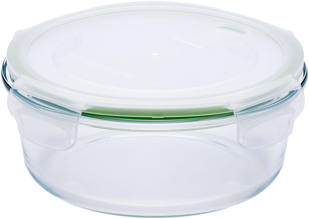 Контейнер пищевой Eley, круглый, цвет: зеленый, 970 мл контейнер пищевой eley elegant сollection круглый цвет лазурный 650 мл elec6008l