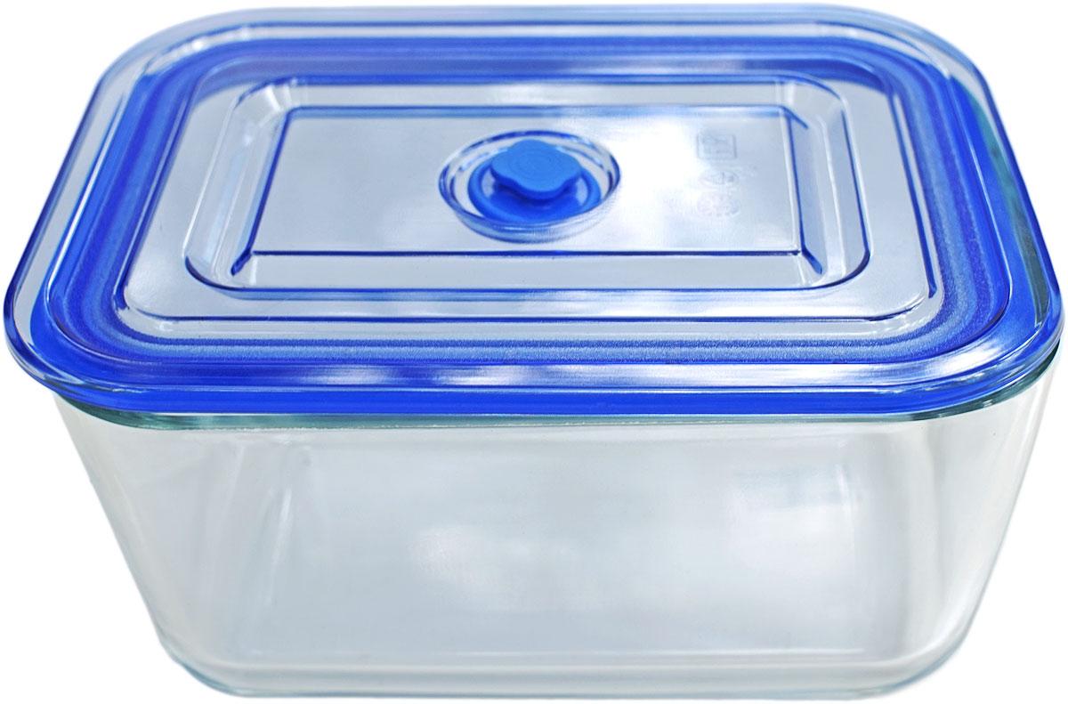 Контейнер пищевой Eley, квадратный, цвет: синий, 3,05 л. ELV5403B контейнер пищевой вакуумный bekker квадратный 330 мл