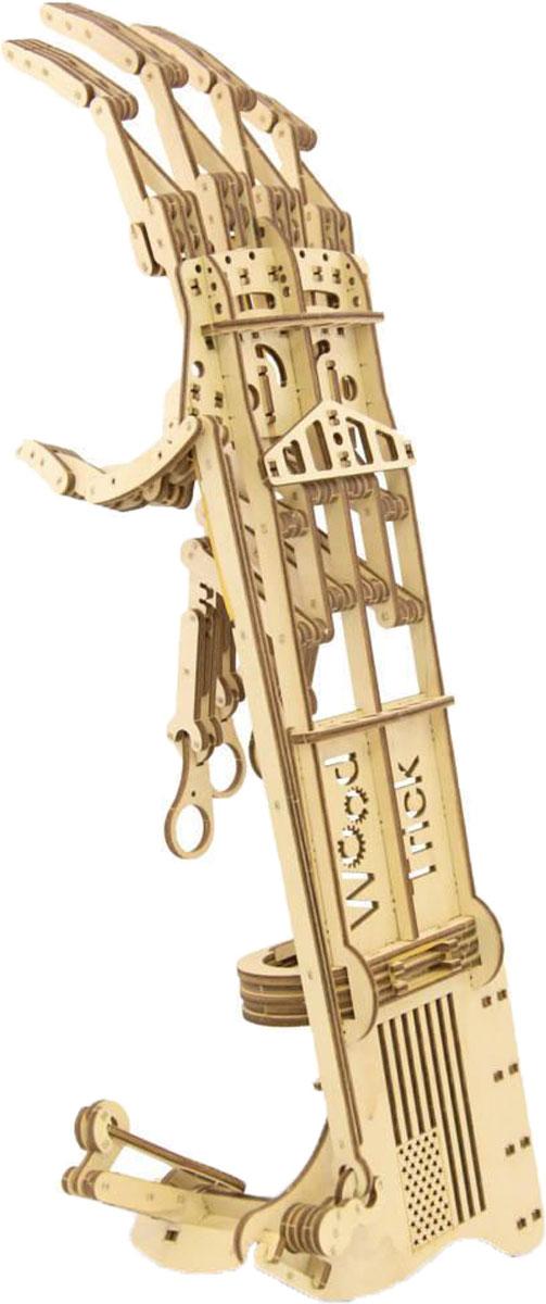 """3D Пазл Wood Trick 1234-81234-8Экзоскелет Рука - это уникальный и крайне популярный набор в коллекции игр от компании Wood Trick. Рука киборга, к тому же функциональная и выполняющая различные действия, ну чем не лучшее изобретение всех времен и народов?!Модель позволяет захватывать и переносить небольшие предметы. Вы даже можете разыграть друзей: представьте, что со спины им на плечо ляжет огромная тяжелая ладонь! То-то они испугаются! Мы даже не можем предположить, какое применение вы сможете придумать для этой модели, ведь их просто бесконечно много!Набор """"Экзоскелет Рука"""" состоит из 200 деталей, однако с его сборкой справится как взрослый, так и ребенок, тем более что к набору прилагается простая и понятная инструкция. Внимательно ознакомьтесь с инструкцией по сборке и у вас получится легко и просто собрать действующую модель руки!А почему бы не собраться всей семьей и не сыграть в локотки с настоящей рукой Терминатора! Ваш ребенок будет с удовольствием учиться создавать и проектировать собственные конструкции и автомобили, как это делают настоящие архитекторы и инженеры. Мы надеемся, что наборы Wood Trick не просто подарят повод многим семьям чаще собираться вместе, но и помогут в будущем раскрыть потенциал множества творческих личностей!Наборы от компании Wood Trick производятся из экологически чистой натуральной древесины, без использования клея и вредных для здоровья примесей. Наши изделия не содержат вредные химические вещества или красители, поэтому даже самые маленькие дети могут играть ..."""