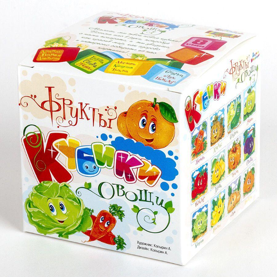 Десятое королевство Кубики Овощи и фрукты десятое королевство лото овощи и фрукты