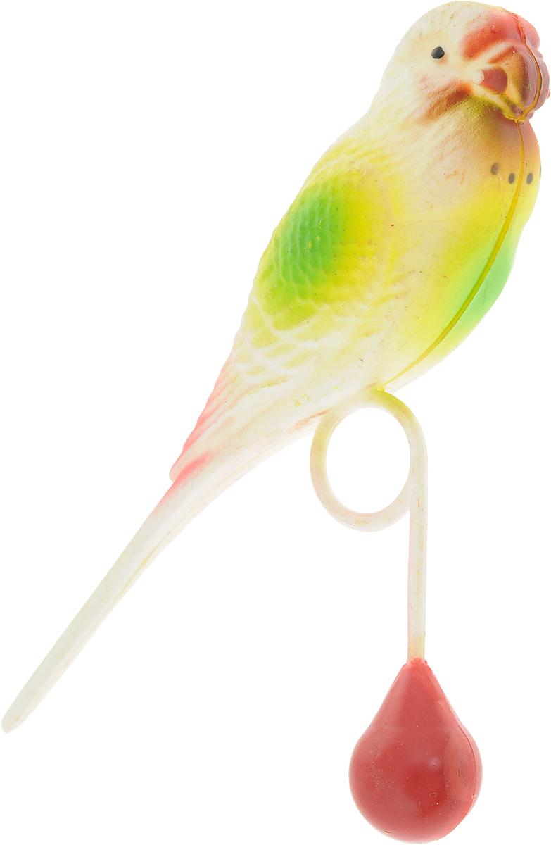 Игрушка для птиц Trixie Попугай, высота 13 см, цвет: зеленый5311_зеленыйИгрушка для птиц Trixie выполнена из пластика в виде попугая. Такая игрушка не даст заскучать вашему питомцу. Размер игрушки: 8 х 13 х 3 см.