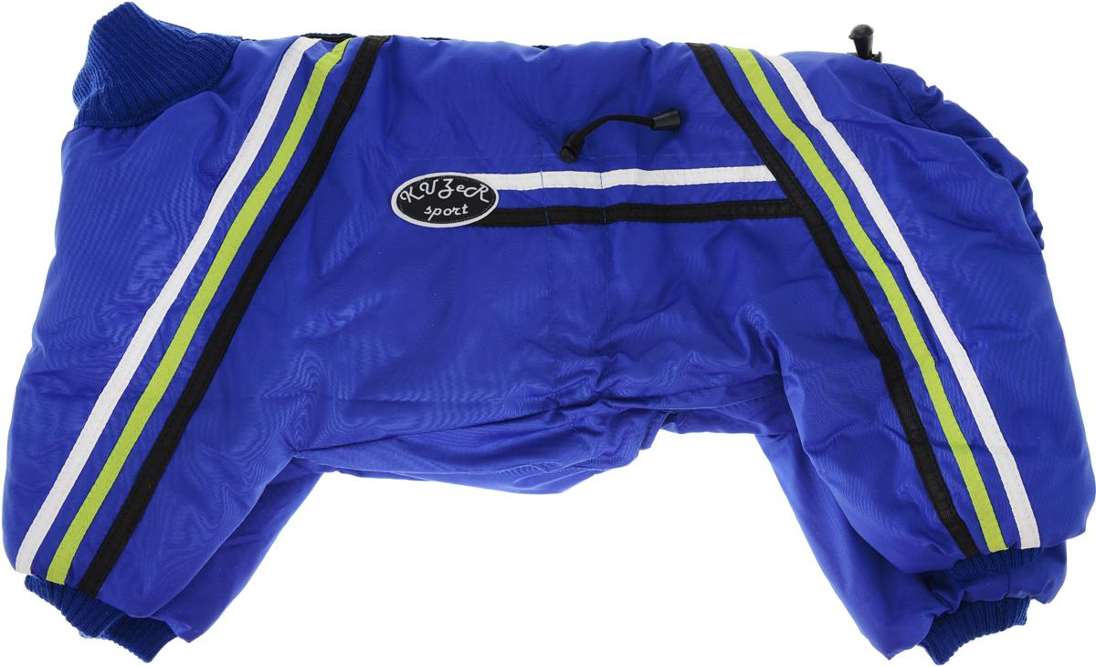 """Комбинезон для собак Kuzer-Moda """"Спринт"""", унисекс, утепленный, цвет: синий. Размер 27XL"""