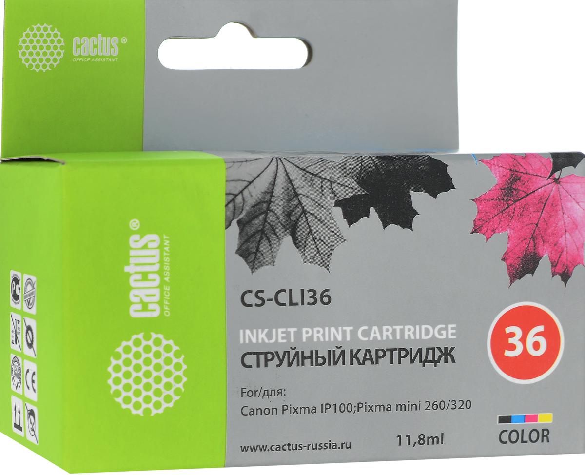 Картридж Cactus CS-CLI36, для струйного принтера