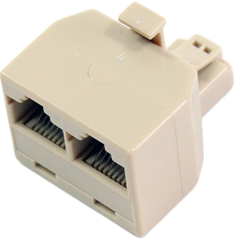 VCOM VTE7714, Beige переходник-разветвитель RJ-45 8P8C-2-8P8C Jack переходник разветвитель hyperline spl yt4 e2 e2 rj 45 4pr t568a t568b 2x2pr 10base t