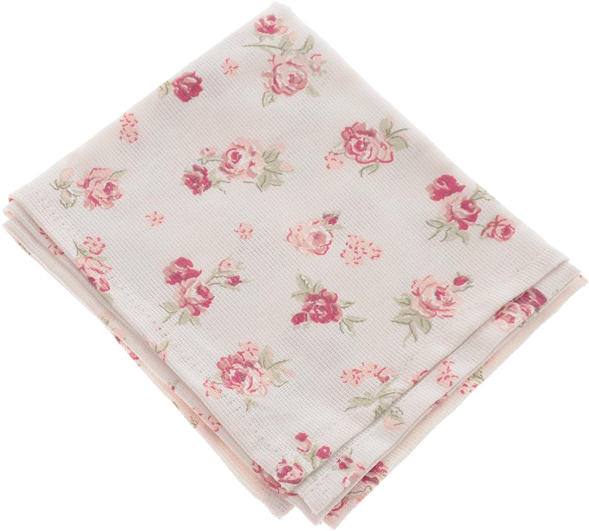 Полотенце кухонное Bonita Розы, цвет: кремовый, красный, 35 x 61 см полотенце кухонное bonita калинка цвет белый красный желтый зеленый 35 х 61 см