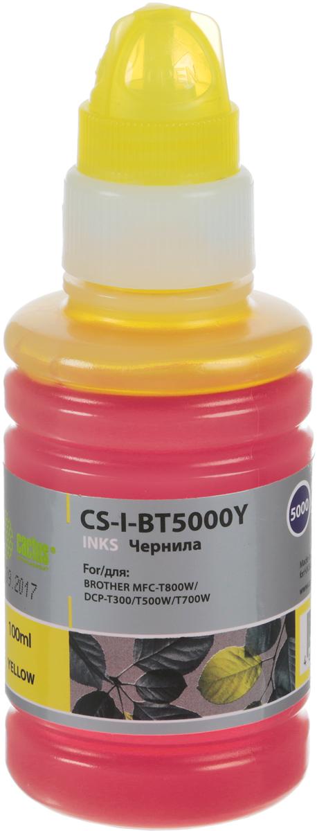 Cactus CS-I-BT5000Y, Yellow чернила для Brother DCP-T300/DCP-T500W/DCP-T700W/MFC-T800W