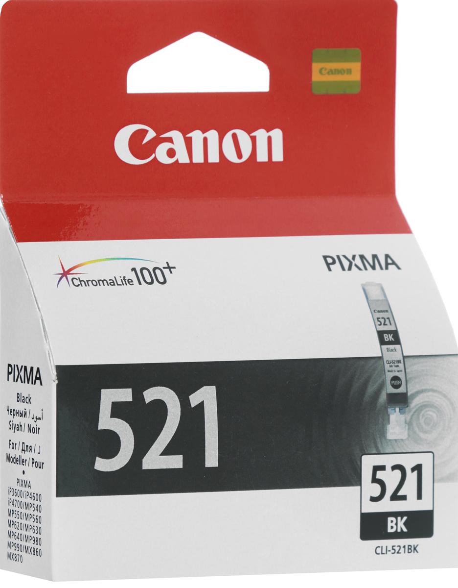 Картридж Canon CLI-521BK, черный, для струйного принтера, оригинал