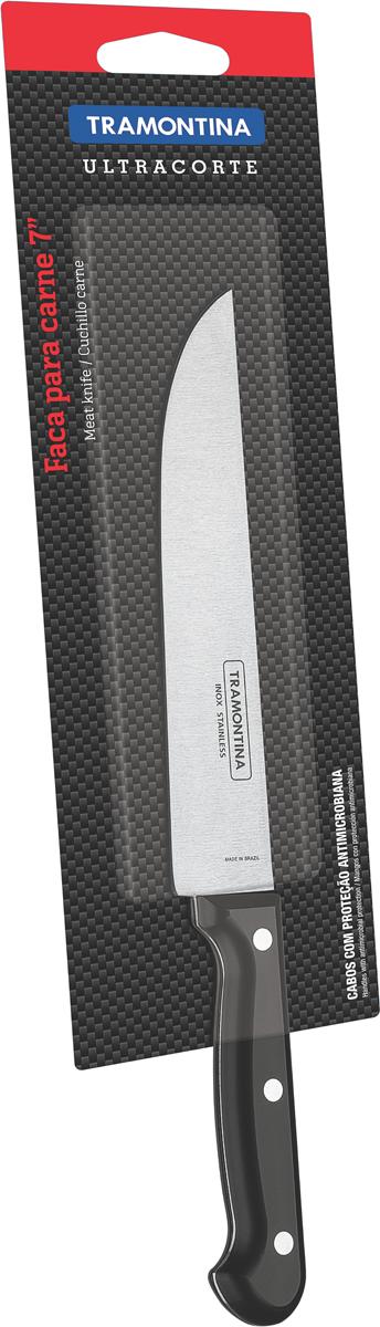 """Нож универсальный Tramontina """"Ultracorte"""", цвет: черный, длина лезвия 17,5 см"""