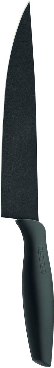 """Нож поварской Tramontina """"Onix"""", цвет: черный, длина лезвия 20 см"""