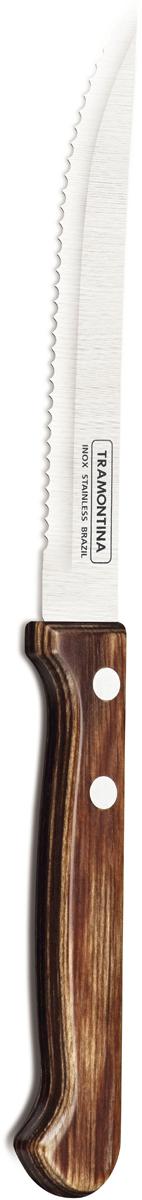 """Нож для стейка Tramontina """"Polywood"""", цвет: коричневый, длина лезвия 12,5 см"""