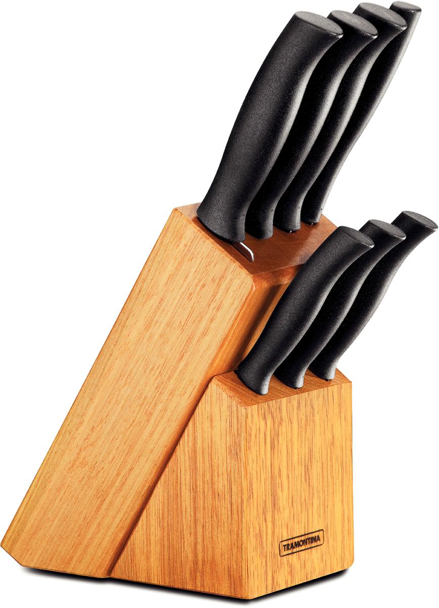 """Набор ножей Tramontina """"Athus"""", цвет: черный, 8 предметов"""