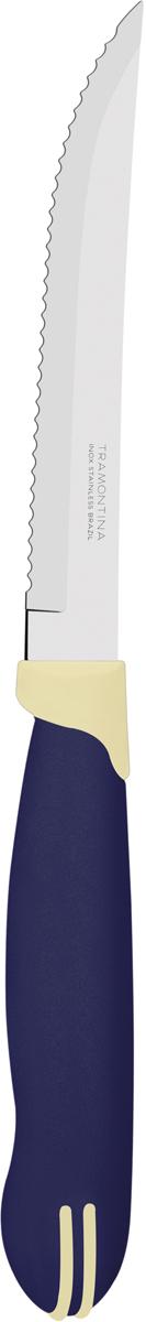 """Набор ножей для мяса Tramontina """"Multicolor"""", цвет: синий, длина лезвия 12,5 см, 2 шт"""