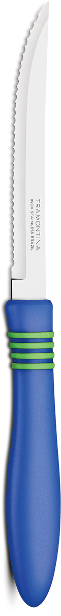 "Нож для мяса Tramontina ""Cor&Cor"", цвет: синий, длина лезвия 12,5 см"