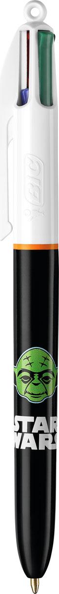 Bic Ручка шариковая 4 в 1 Star Wars Мастер Йода ручка шариковая bic 4 colours fine автоматическая 0 36 мм 4 цвета