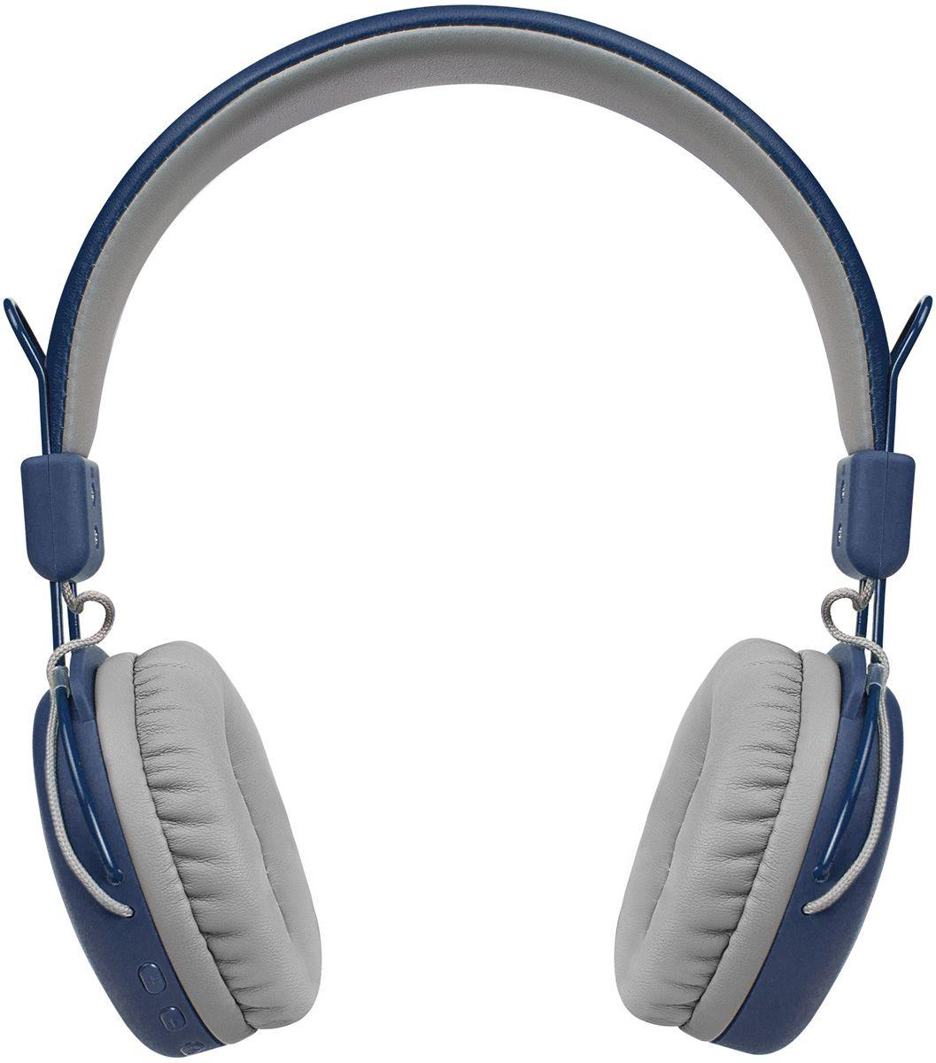 Беспроводные наушники Rombica Mysound BH-03 2C, синий наушники rombica mysound bh 03 1c серый