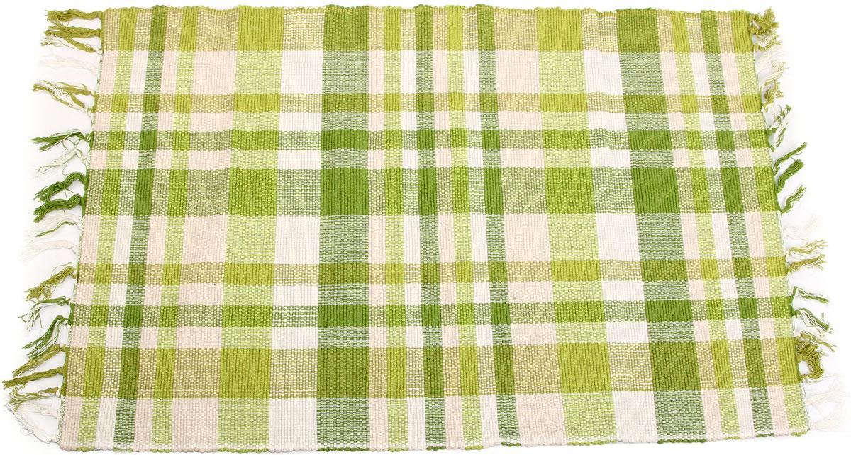 Коврик для ванной Arloni, самотканый, цвет: зеленый, 60 x 90 см. 102/7ARL