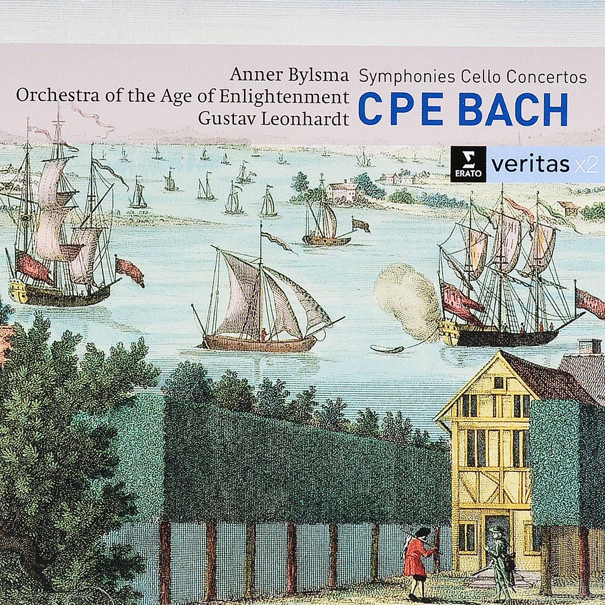 лучшая цена CPE Bach. Symphonies, Cello Concertos (2 CD)