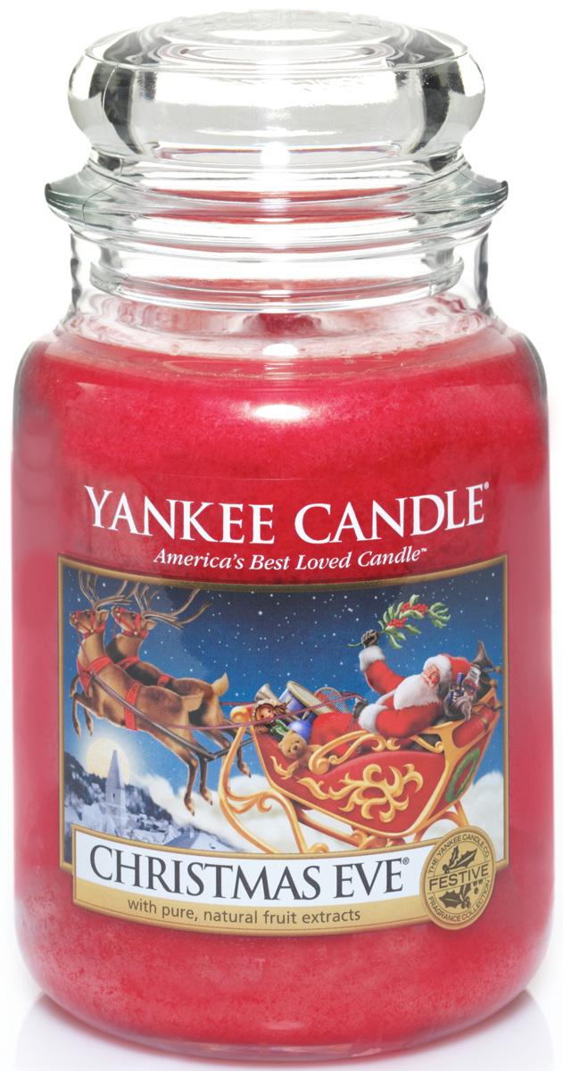 Свеча ароматизированная Yankee Candle Christmas eve, высота 16,8 см свеча ароматизированная yankee candle angel wings высота 12 7 см