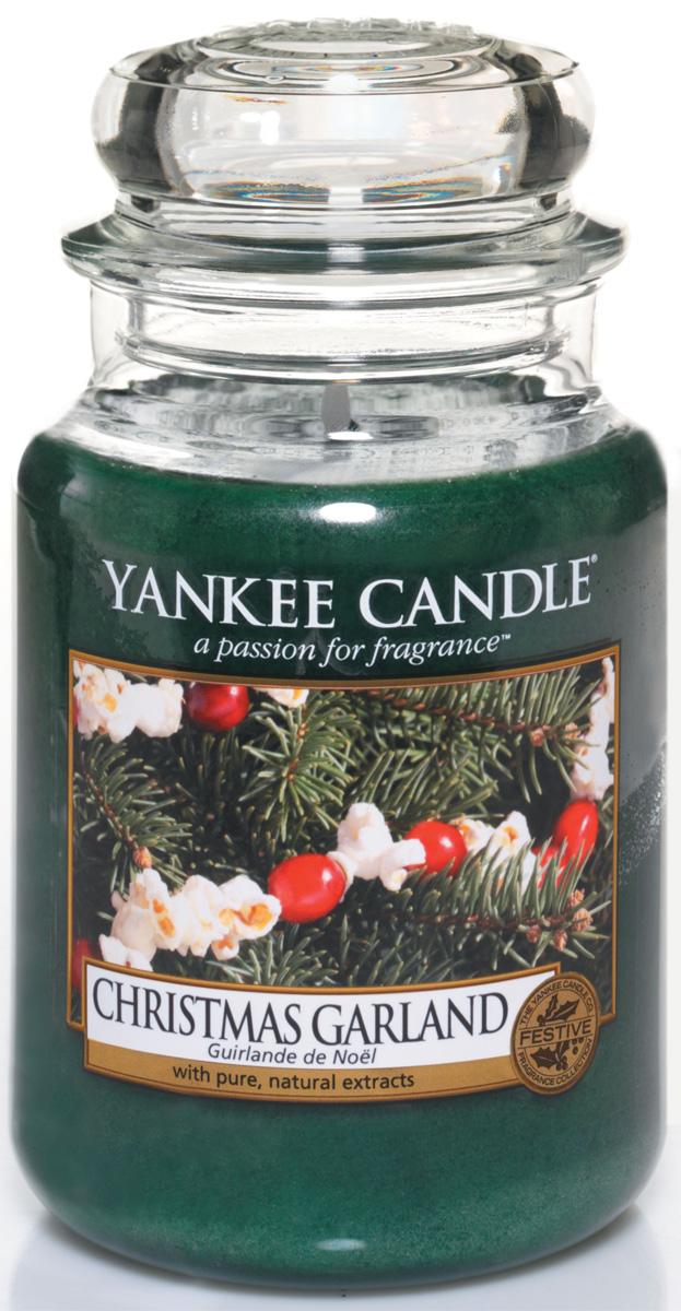 Свеча ароматизированная Yankee Candle Christmas garland, высота 16,8 см свеча ароматизированная yankee candle angel wings высота 12 7 см
