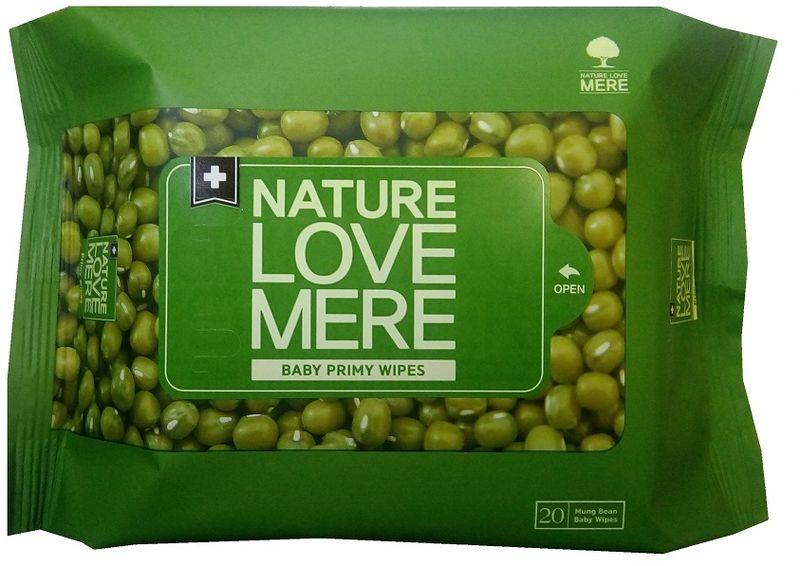 Nature Love Mere Влажные салфетки детские Mung Bean Wet Tissue 20 шт