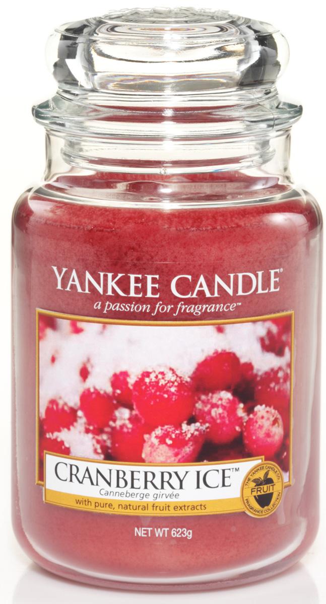 Свеча ароматизированная Yankee Candle Cranberry ice, высота 16,8 см свеча клюква со льдом yankee candle свеча клюква со льдом