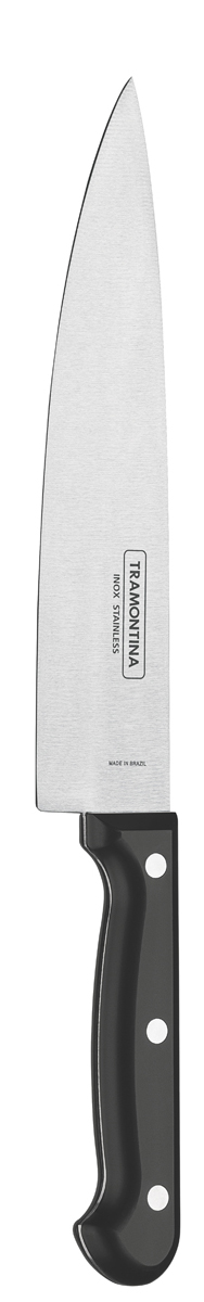"""Нож поварской Tramontina """"Ultracorte"""", цвет: черный, длина лезвия 15 см"""