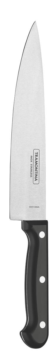 """Нож поварской Tramontina """"Ultracorte"""", цвет: черный, длина лезвия 20 см"""