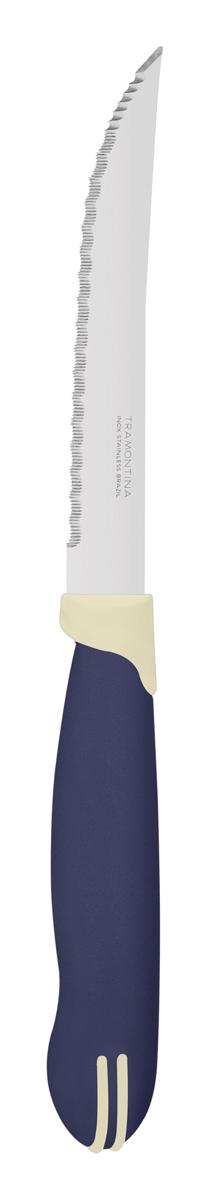 """Нож универсальный Tramontina """"Multicolor"""", цвет: синий, длина лезвия 12,5 см, 2 шт. 23529/215-TR"""