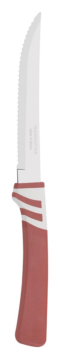 """Нож для мяса Tramontina """"Amalfi"""", цвет: бордовый, длина лезвия 12,5 см"""