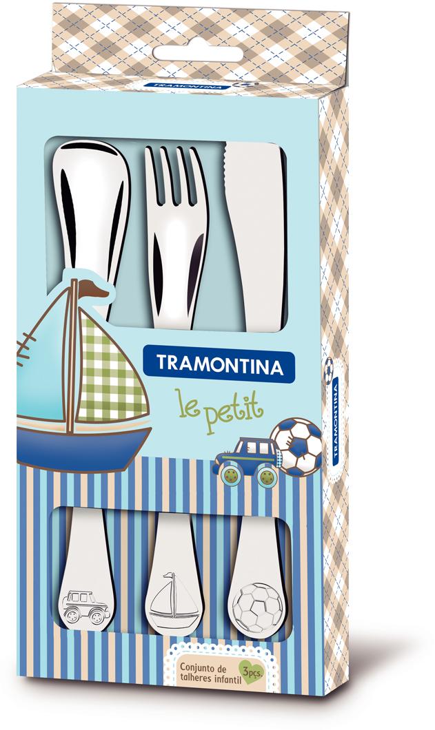 Набор детских столовых приборов Tramontina Le Petit, 3 предмета. 66973/000-TR цена