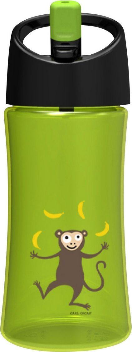 Бутылка Carl Oscar для воды детская Monkey, 0,35л, светло-зеленый бутылка для воды aquapad™ 0 4л белая carl oscar aquapad™