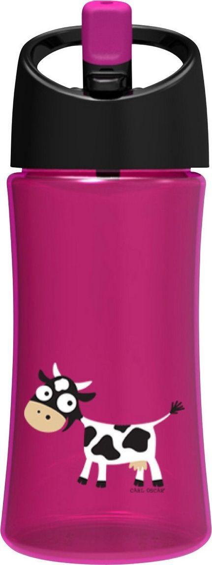 Бутылка Carl Oscar для воды детская Cow детская, 350 мл, фиолетовый бутылка для воды aquapad™ 0 4л белая carl oscar aquapad™