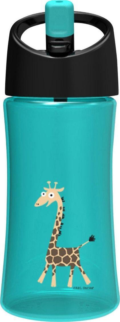 Бутылка Carl Oscar для воды детская Giraffe, 350 мл, бирюзовый бутылка для воды aquapad™ 0 4л белая carl oscar aquapad™